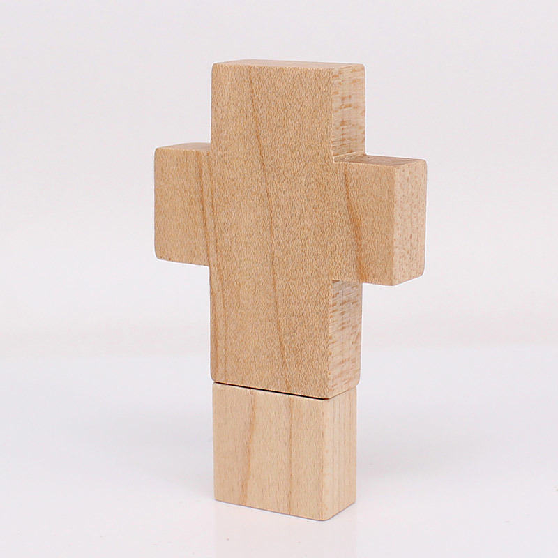 Best Wholesale Price Cross Shaped Wooden USB Flash Drive with High Speed