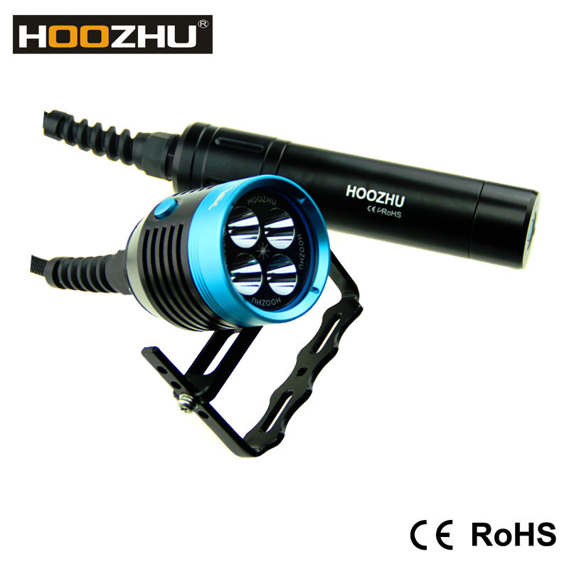 Hoozhu Hu33 Canister Dive Light LED Torch with Waterproof 120 Meters Diving Lamp