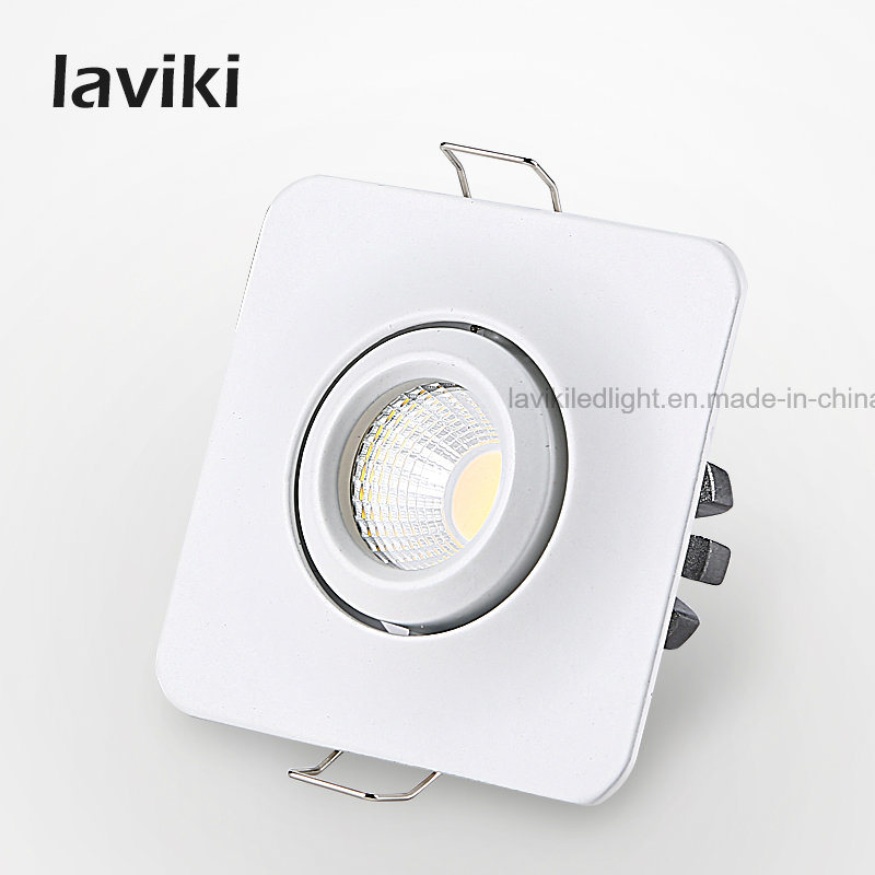 Angle Adjustable White LED COB Mini Spot Light with 3W for Jewelry Shops, Showcase, Museum