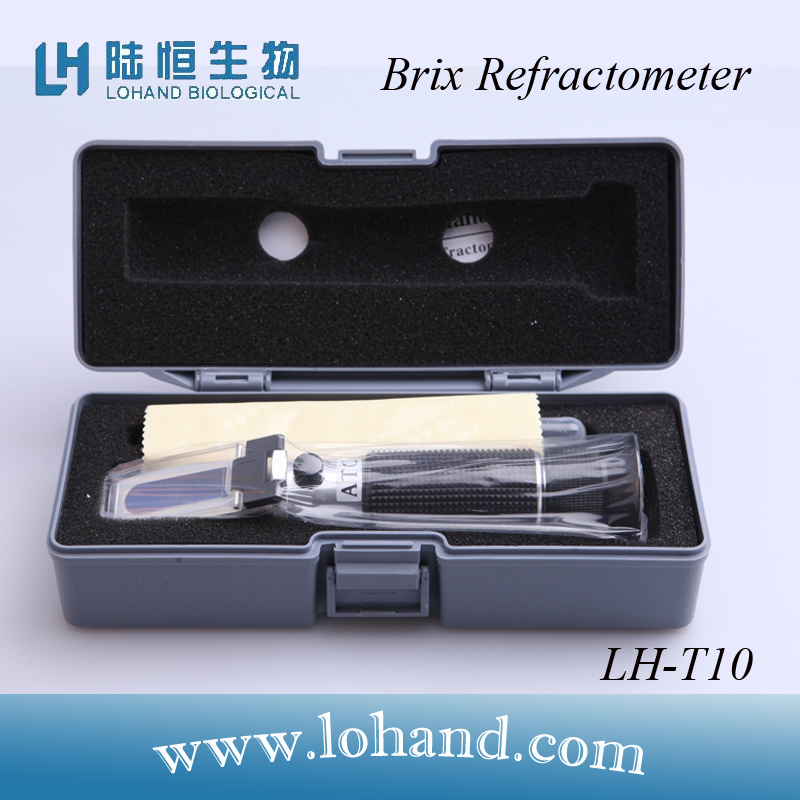 Wholesale Hand Held Metal Material with Atc Brix Refractometer (LH-T10)