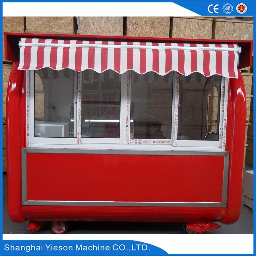 Ys-Bf230g Multifunction Food Kisok Street Vending Carts