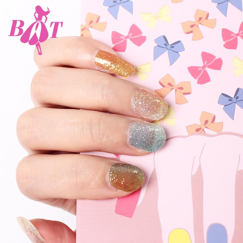 2017 New Glitter Adhesive Nail Art Sticker