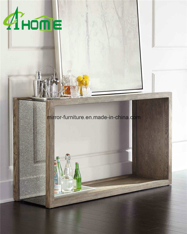 Living Room Glass Mirror Console Table/Vanity Furniture