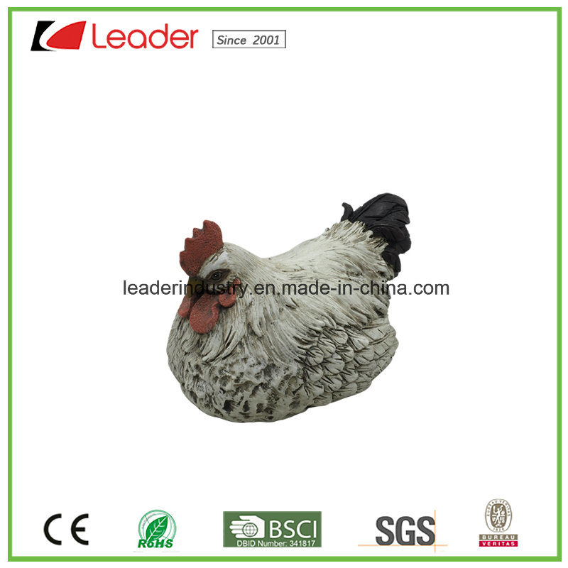 Polyresin Realistic Hen Chicken Statue for Easter Decoration
