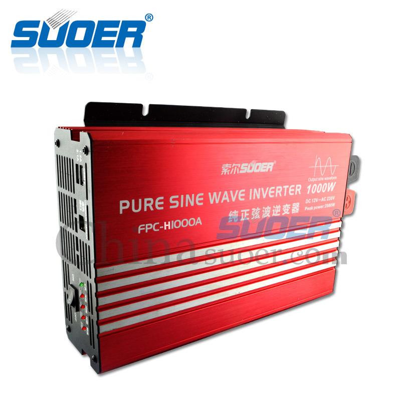 Suoer New Generation True Sine Wave Inverter 1000W 220V 230V Solar Power Inverter (FPC-H1000A)