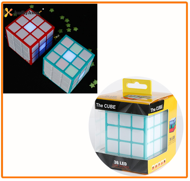 LED Light Wireless Mini Square Magic Cube Bluetooth Speaker