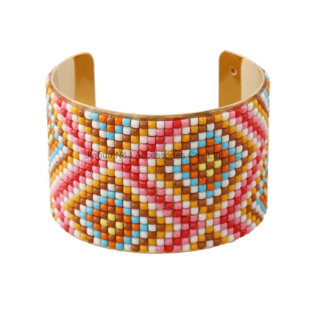 Fashion 5cm Wide Gold Bangle Acrylic Resin Women Opening Wide Bracelets Jewelry