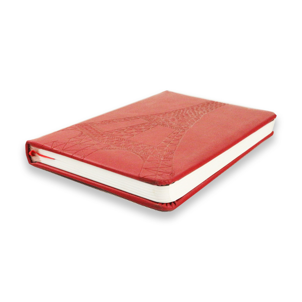 Debossed and Embossed Hardcover Notebook PU Leather Notebook Printing