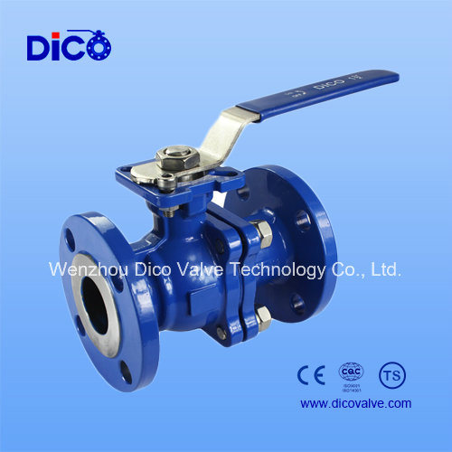 Carbon Steel Flange Full Bore Ball Valve with Locking Handle