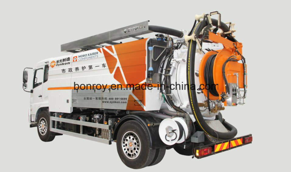 Combination High-Pressure Cleaning Vacuum Sewage, Sewage Sludge Circulation Dredging Vehicle/Truck