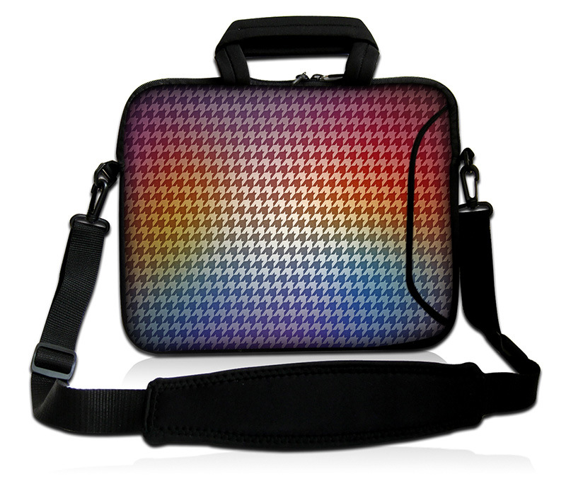 "Colorful Pattern Laptop Bag 17"" Neoprene Sleeve Case with Handle&Shoulder Strap"