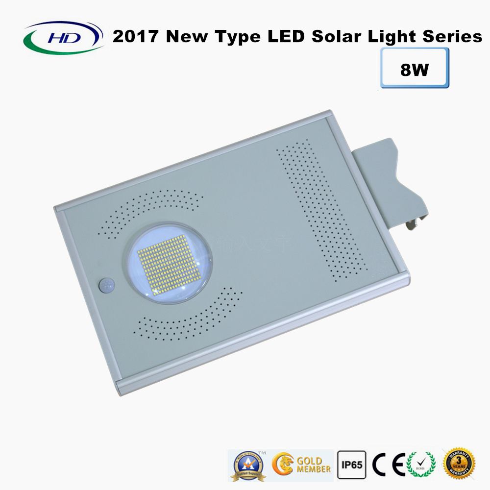 2017 New Type All-in-One Solar LED Garden Light 8W
