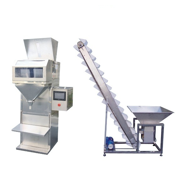 Semi Automatic Granule/Grain/Rice/Beans/Coffee/Nuts/ Filler Weighing Filling Packing Machine
