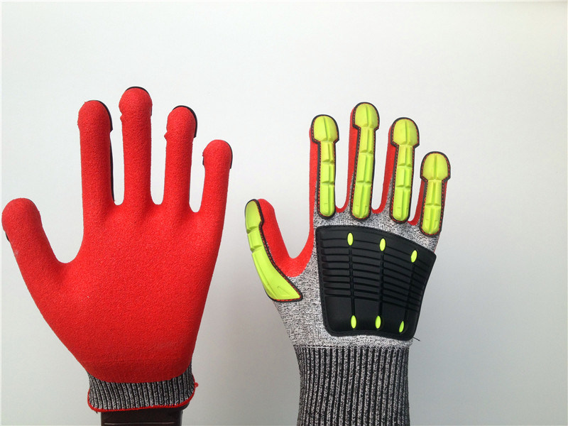 Cut5 Stock Hppe Gloves with TPR Sewing