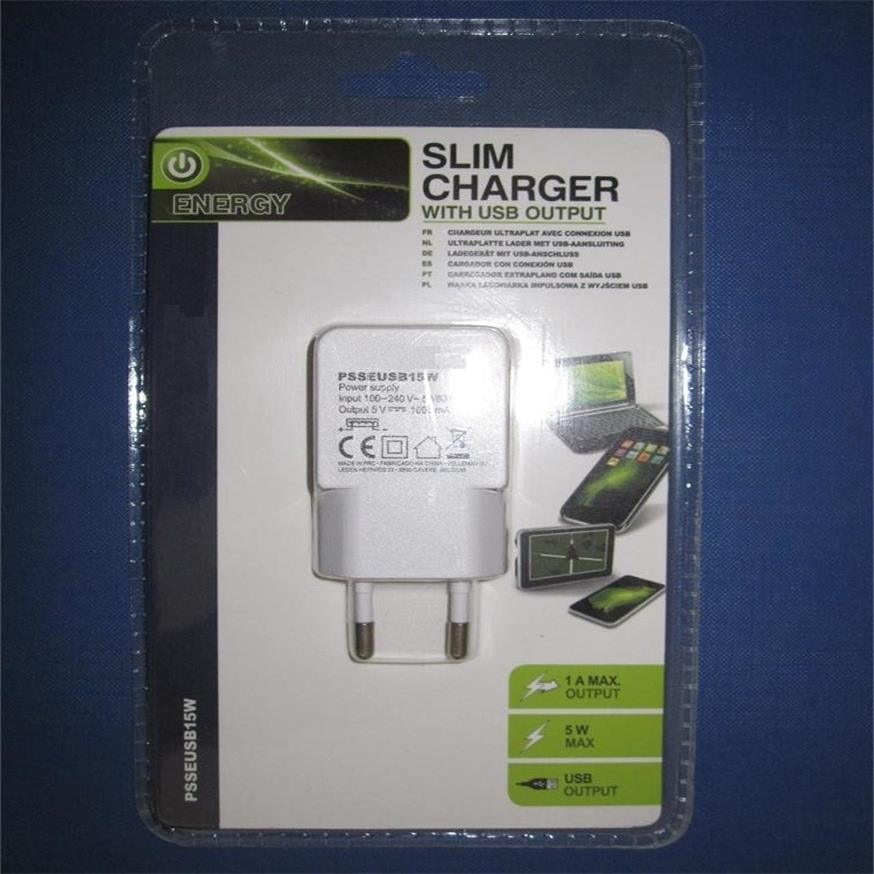 USB Charger Adapter Set with 2 in 1 Packing Box for Mobile Phones