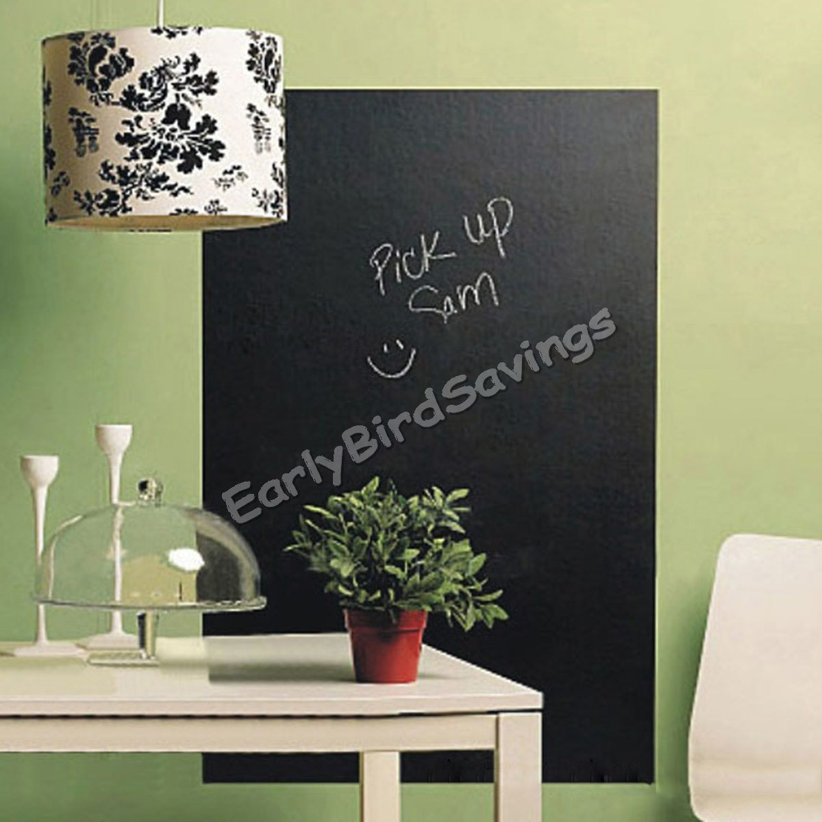 PVC Blackboard Vinyl Wallpaper Amphibious Office Wallpaper Chalk Pen Wall