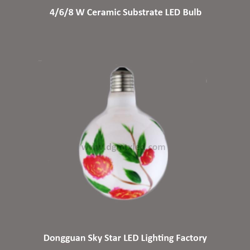 110V 220V 4W 6W 8W E27 Ceramic Substrate Flower Lighting