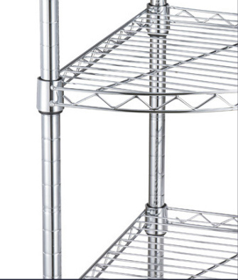 Four Tier Triangle Storage Rack for Corner Use