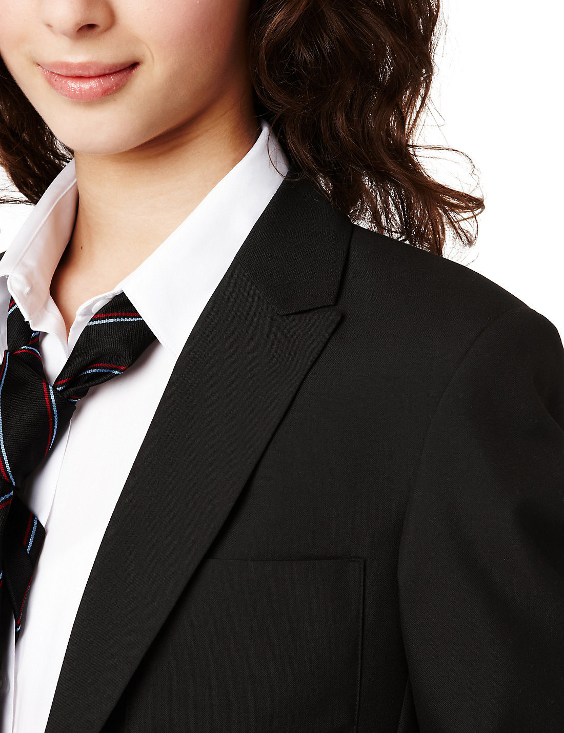 School Senior Girls Slim Fit Fashion Blazer