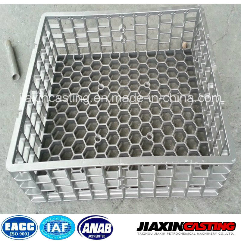 Heat Treatment Stainless Steel Casting Base Tray Basket