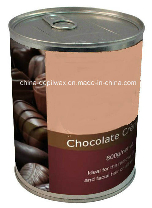 800g Can Soft Depilatory Wax Chocolate Creme Wax with Wonderful Aroma Waxing