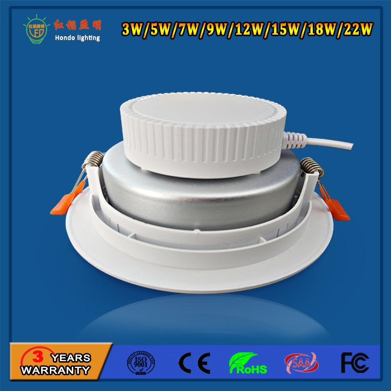 2017 Hot Sale 9W LED Down Light with High Luminous Output and Low Light Decay