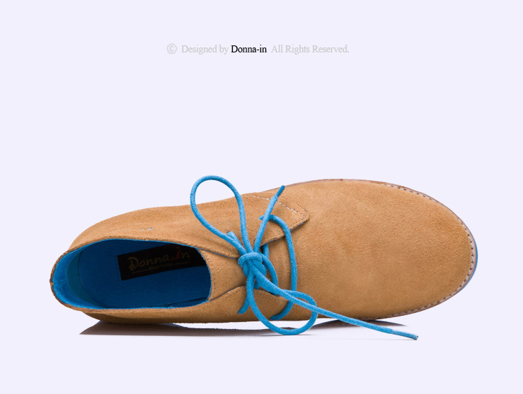 2017 Fashion Lady Suede Leather Lace-up Casual Women Flat Shoes