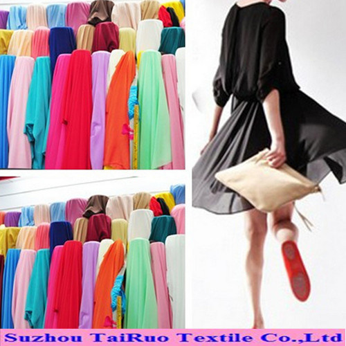 100% Polyester 100d Fabric Chiffon Dying Fabric for Ladies Dress