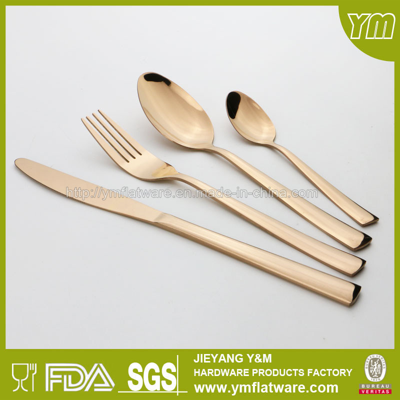 Hot Sell Stainless Steel Rose Gold Cutlery Set