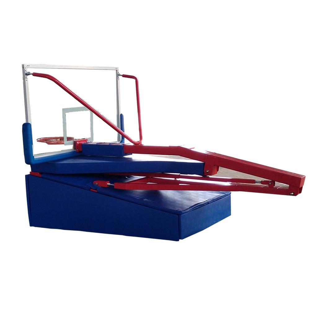 Indoor Adjustable Height Electric Hydraulic Foldable Movable Basketball Backboard Hoop