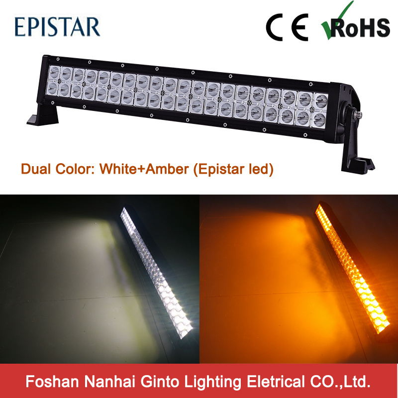 off Road Dual Color White and Amber LED Car Fog Light Bar (GT31001-120EP-Dual Color)