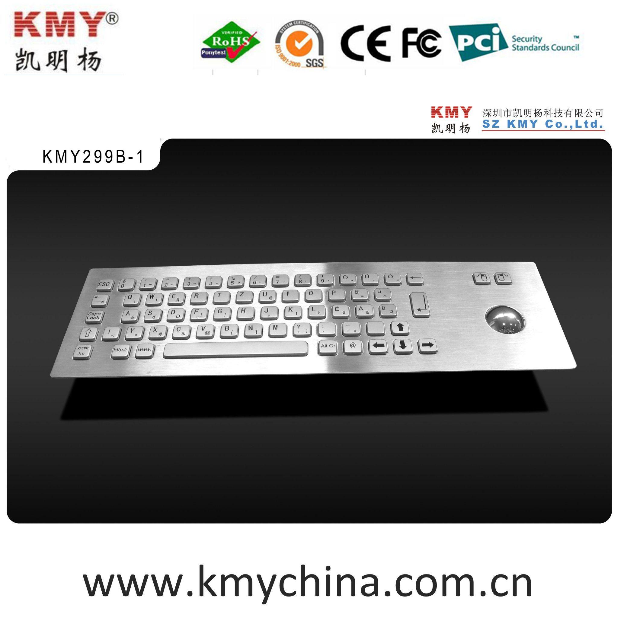 IP65 Stainless Steel Metal Keyboard-Kiosk Component (KMY299B-1)