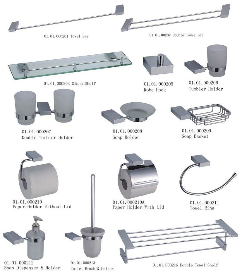 Interior design gallery bathroom accessories for Bathroom fittings set