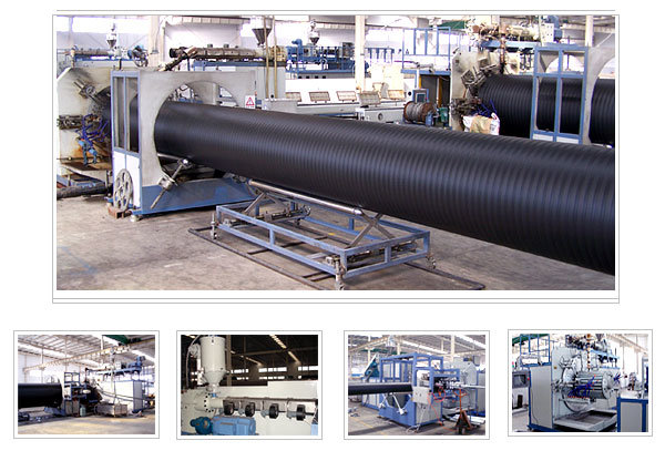 China hdpe large diameter hollow wall winding pipe