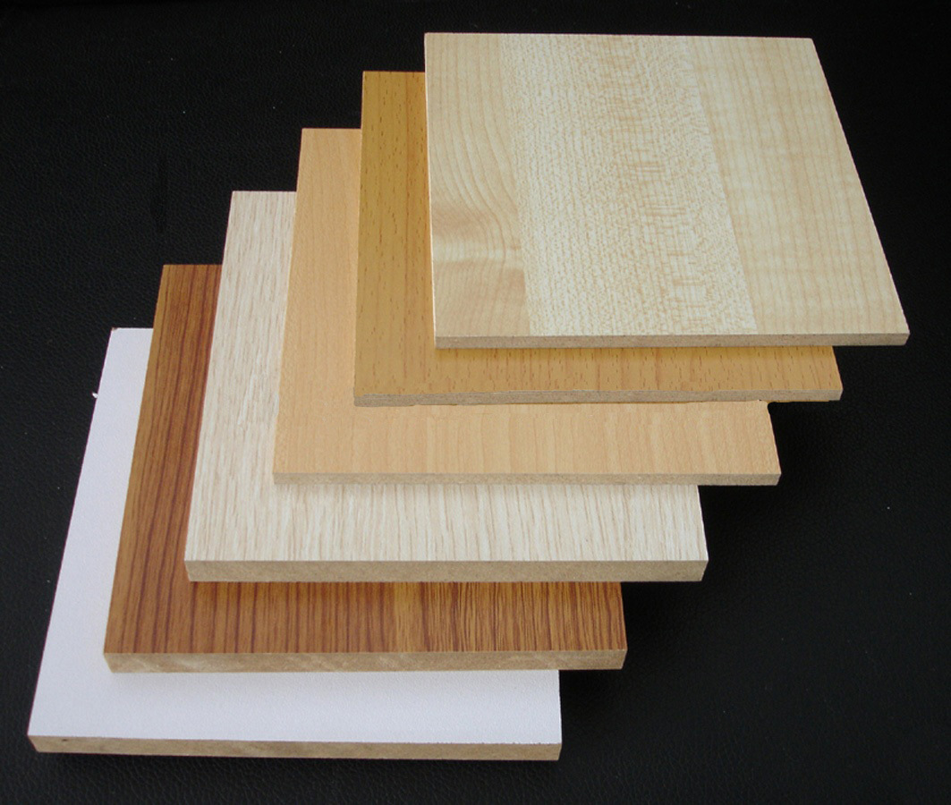 china mdf board melamined with solid color photos