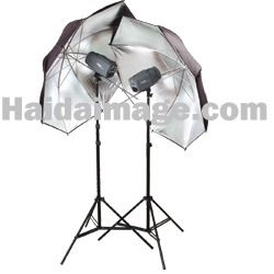 Photo Studio Light Kit With Umbrella-Photo Studio Light Kit With