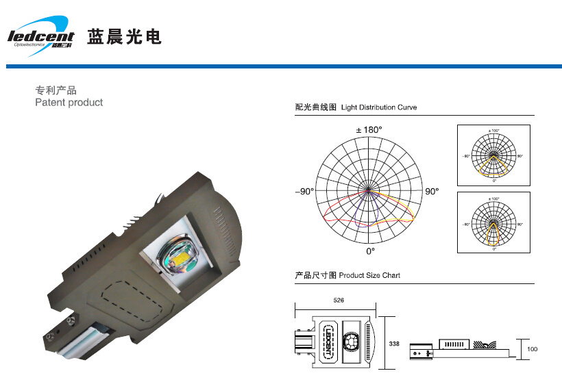55W LED Street Lamp HPS Replacement Long Lifespan