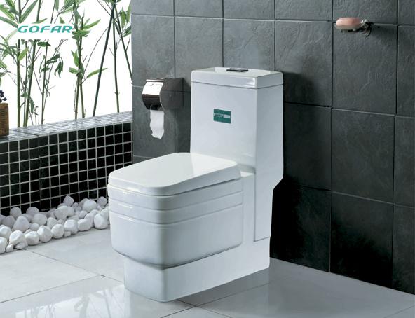 China Siphonic Toilet Sanitaryware Toilet Toilet Enclosure