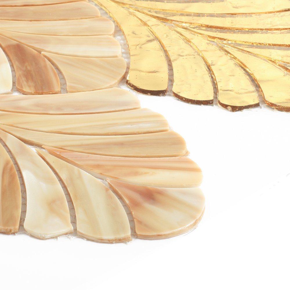 New Design Home Kitchen Decoration Gold Glass Art Mosaic Tiles
