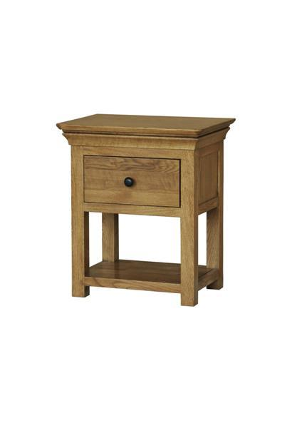 Bedroom Furnitue/ Solid Oak Chuncky Two Drawer Bedside Table (VB30)