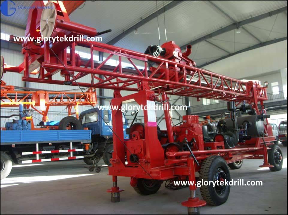 250m GL-IIA Trailer Type Water Well Drilling Machine (GL-IIA)