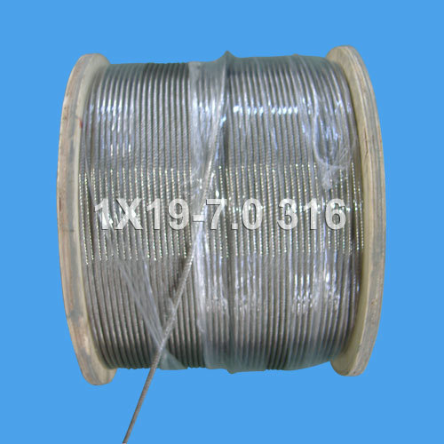 Stainless Steel Wire Rope for Hoisting and Lifting (1X19-7.0)