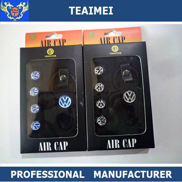 Manufaturing Car Logo Dust Cap Car Tire Valve with Anti-Theft