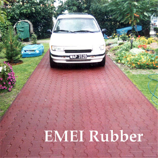 China Driveway Brick Recycled Rubber Paver Photos