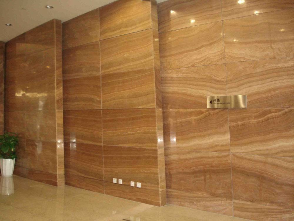 Marble Wall Tile : China wood vein marble wall tiles cz