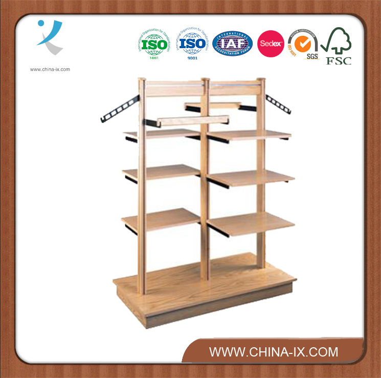 Wooden Cloth Display Racks Furniture for Cloth Store