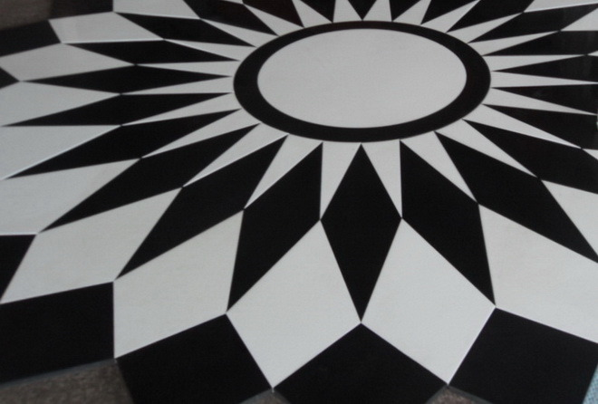 China Classic Black And White Marble Tiles China Marble