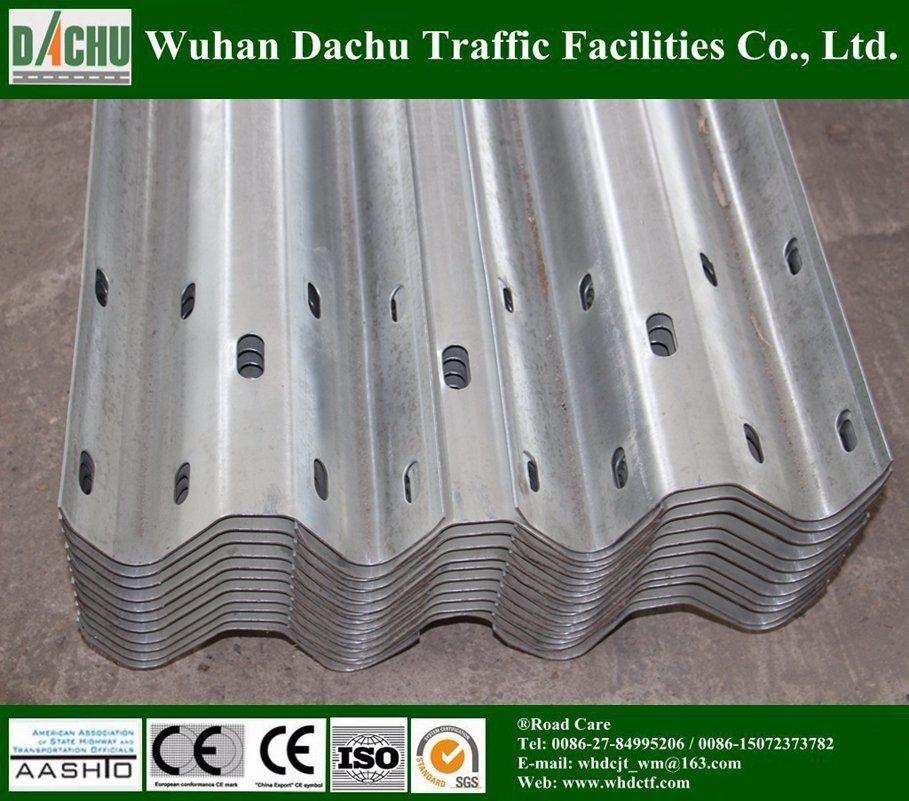 Q235 Galvanized Steel Metal Beam Road Crash Barrier