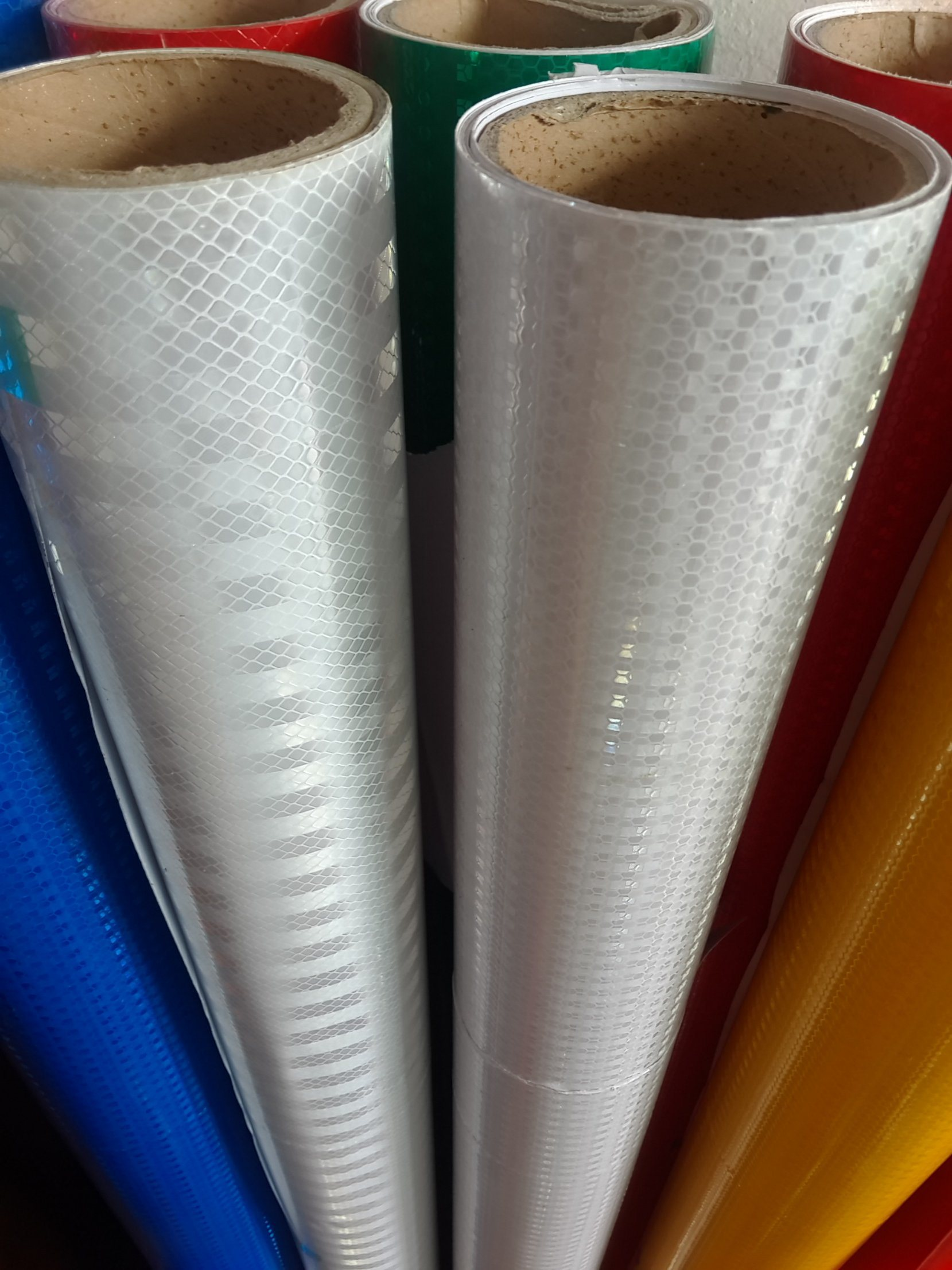 1.24m Width High Visibility Advertising Grade Printing Micro Prismatic Reflective Film