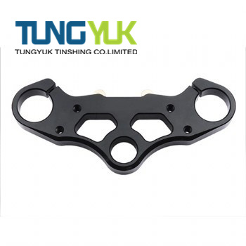 CNC Machined Triple Bracket Black Oxide